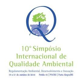 10º  SIMPÓSIO INTERNACIONAL DE QUALIDADE AMBIENTAL