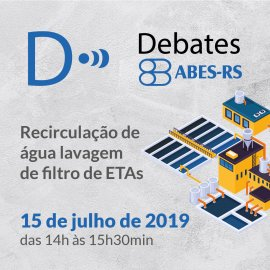 DEBATES ABES-RS - RECIRCULAÇÃO DE  ÁGUA LAVAGEM DE FILTRO  DE ETAS